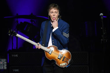 July 7, 2017; Miami, FL, USA; Paul McCartney performs at the American Airlines Arena.