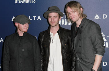 Rick Woolstenhulme, Jr., Jason Wade and Bryce Soderberg of Lifehouse