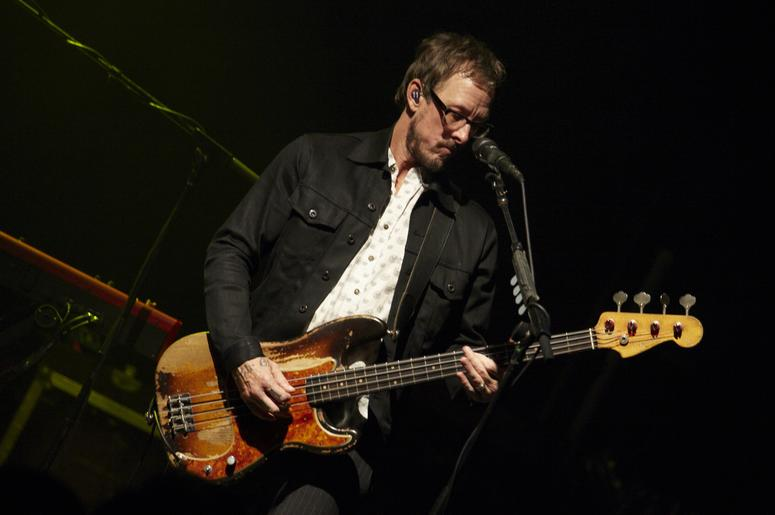 Scott Shriner of Weezer performs
