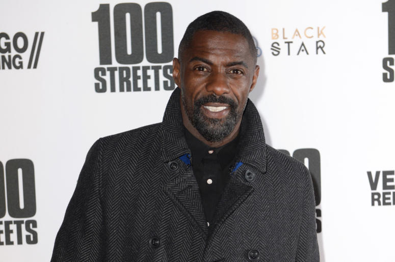 Idris Elba arriving at the 100 Streets Premiere, BFI Southbank, London