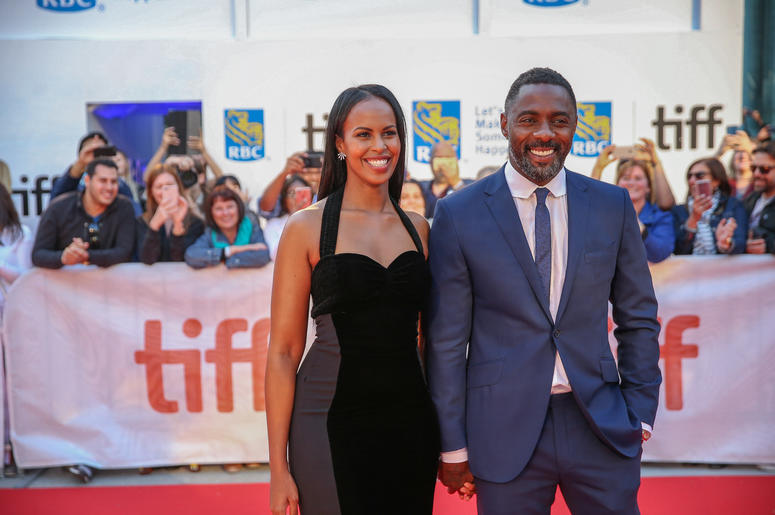 "Idris Elba and Sabrina Dhowre attend the ""The Mountain Between Us"" Premiere during the 2017 Toronto International Film Festival at the Roy Thompson Theatre, in Toronto, Canada, on September 9 2017."
