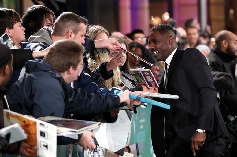 Idris Elba attending the UK Premiere of Molly's Game, at Vue West End, Leicester Square, London