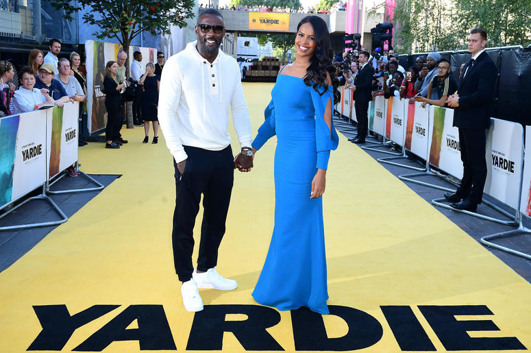 Idris Elba (left) and Sabrina Dhowre attending the Yardie premiere at the BFI Southbank in London.