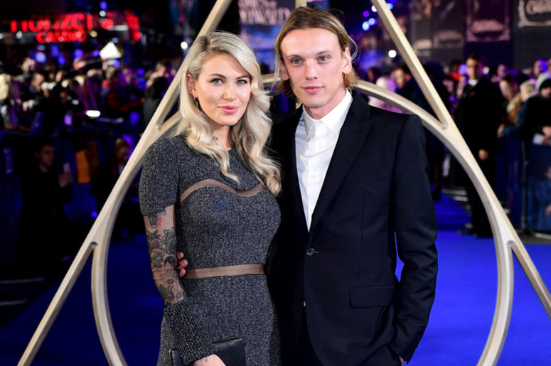 Ruby Quilter (left) and Jamie Campbell Bower (right) attending the Fantastic Beasts: The Crimes of Grindelwald UK premiere held at Leicester Square, London.