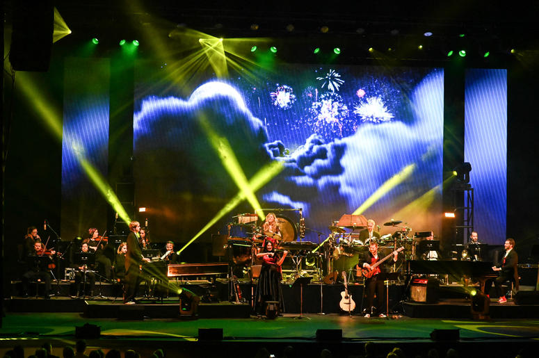 WEST PALM BEACH, FL - NOVEMBER 21: Mannheim Steamroller in concert at The Kravis Center in West Palm Beach, Florida on November 21, 2018