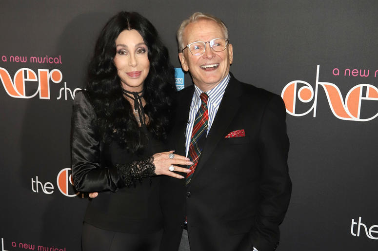 "Cher and Bob Mackie attend the opening night of ""The Cher Show"" on Broadway at the Neil Simon Theatre in New York."