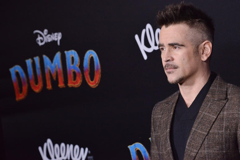 """Colin Farrell arrives at Disney's """"Dumbo"""" Los Angeles Premiere held at the El Capitan Theatre in Hollywood, CA on Monday, March 11, 2019."""