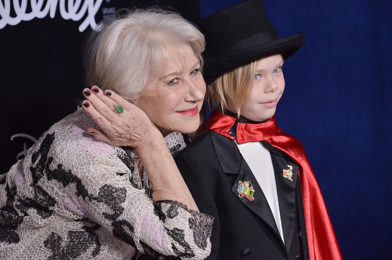 """Dame Helen Mirren and Grandson Waylon at Disney's """"Dumbo"""" Los Angeles Premiere held at the El Capitan Theatre in Hollywood, CA on Monday, March 11, 2019."""