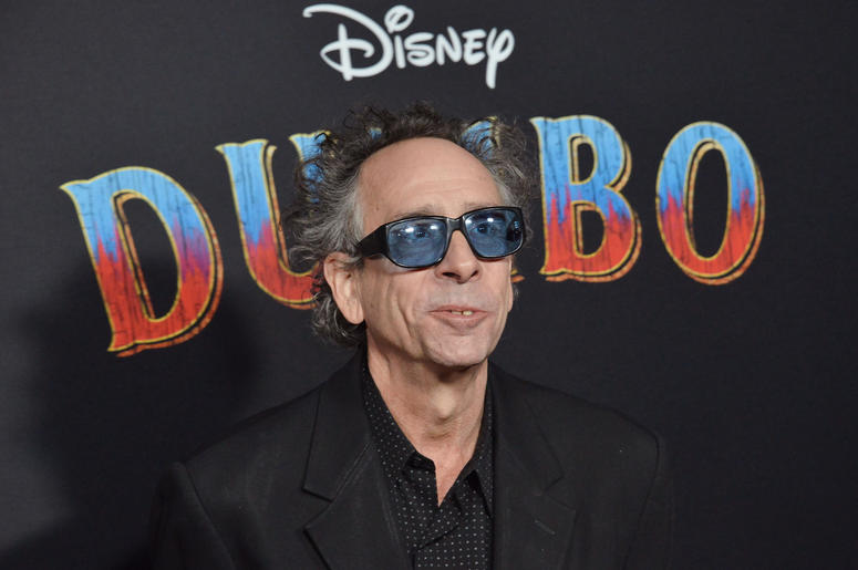 """Tim Burton arrives at Disney's """"Dumbo"""" Los Angeles Premiere held at the El Capitan Theatre in Hollywood, CA on Monday, March 11, 2019"""
