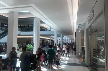 Line at Build-A-Bear South Hills Village