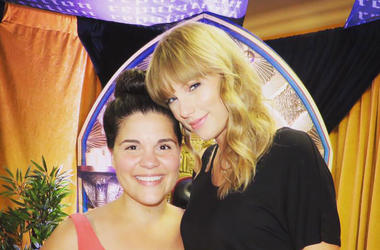 Maria and Taylor Swift at Heinz Field in Pittsburgh