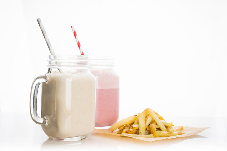 milkshake and fries