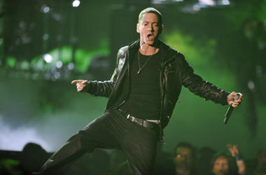 Eminem performs at the 2011 Grammy Awards.