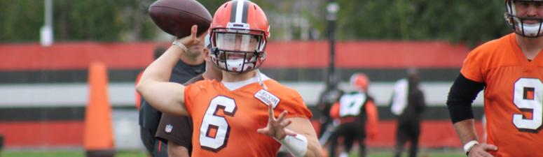 Baker Mayfield Cleveland Browns September 24, 2018 practice