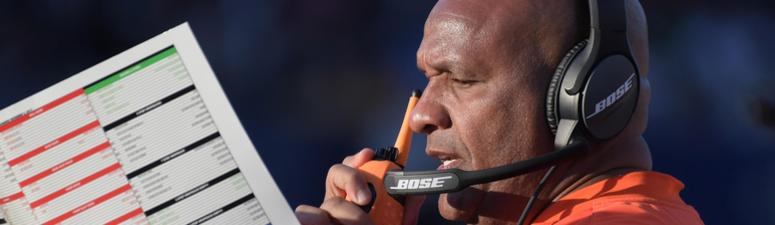 Cleveland Browns head coach Hue Jackson during the 2017 season