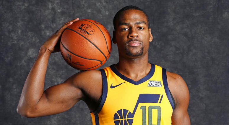 Alec Burks poses for a photo during media day at the Utah Jazz practice facility in Salt Lake City. The Cleveland Cavaliers traded Kyle Korver to the Utah Jazz for guard Alec Burks and two future second-round draft picks, Thursday, Nov. 29, 2018. (