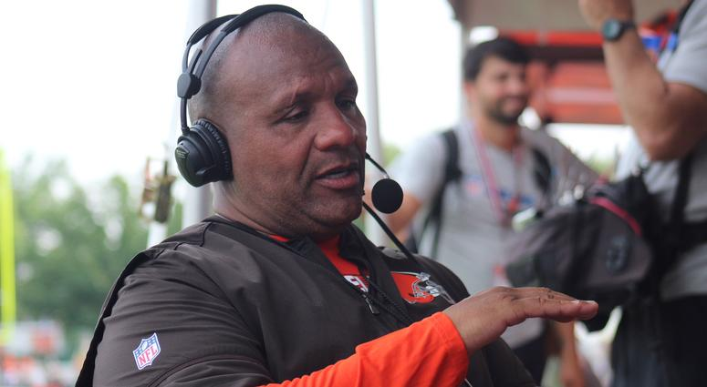 Browns head coach Hue Jackson speaks with Bull and Fox on Aug. 2, 2018 on 92.3 The Fan.
