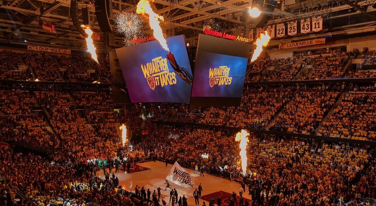 A general view of Quicken Loans Arena during the 2018 NBA Playoffs