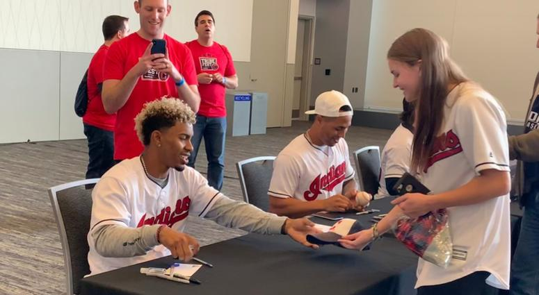 Lindor brought his fun personality to Tribe Fest