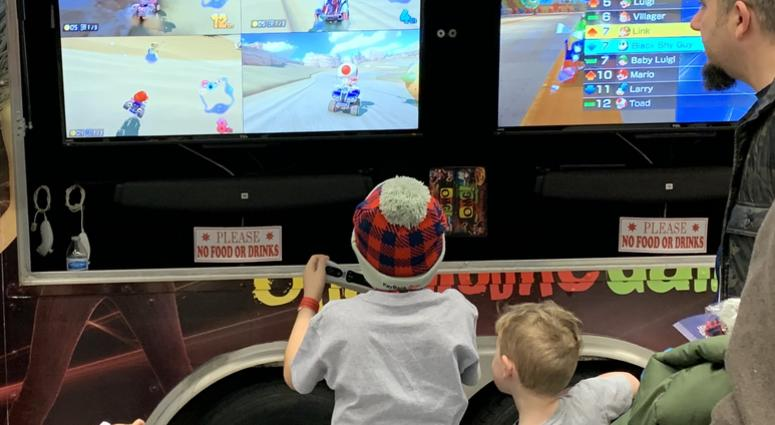 They had Mario Kart for the kids