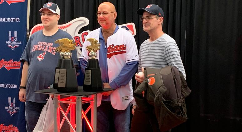 Francona poses with fans