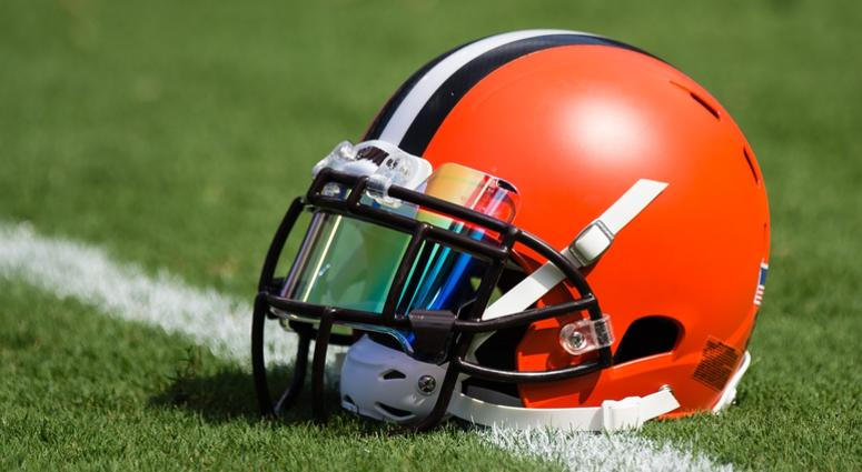 A generic view of the helmet currently worn by the Cleveland Browns