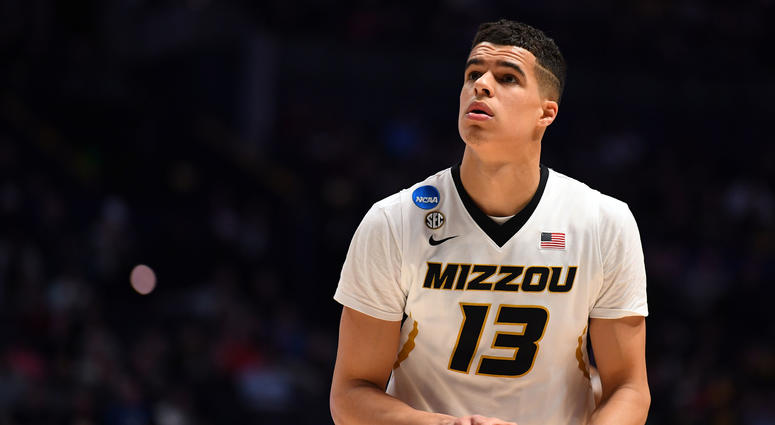 Mar 16, 2018; Nashville, TN, USA; Missouri Tigers forward Michael Porter Jr. (13) shoots against the Florida State Seminoles during the first half in the first round of the 2018 NCAA Tournament at Bridgestone Arena.