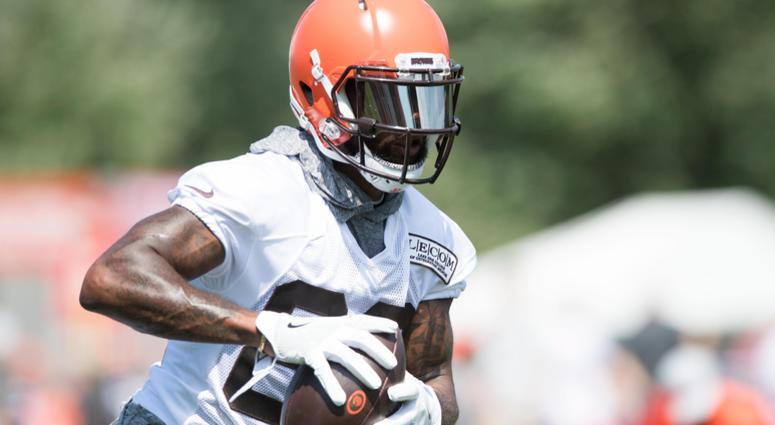 Cleveland Browns wide receiver Jarvis Landry (80) during training camp at the Cleveland Browns Training Complex.