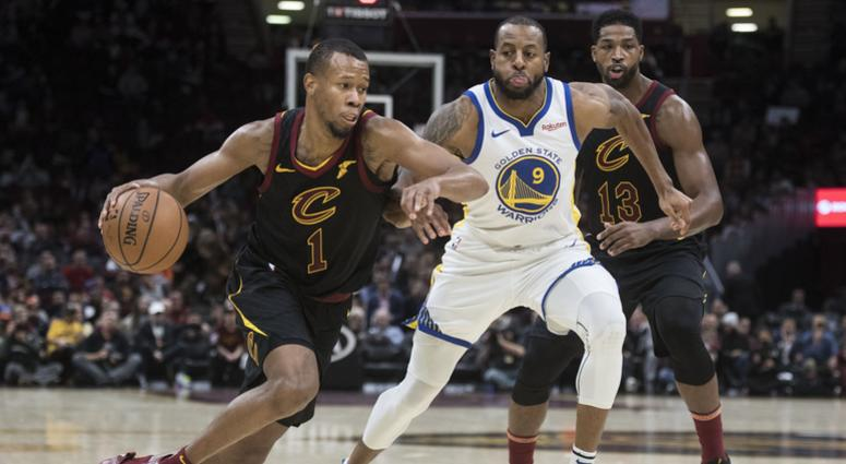 Dec 5 2018 Cleveland OH USA Cleveland Cavaliers guard Rodney Hood drives to the basket against Golden State Warriors guard Andre Iguodala during the second half at Quicken Loans Arena. Mandatory Credit Ken Blaze-USA TODAY Sports