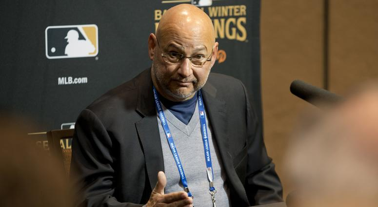 Cleveland Indians manager Terry Francona talks to the media during the MLB Winter Meetings at the Mandalay Bay Convention Center.