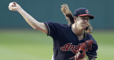 Cleveland Indians starting pitcher Mike Clevinger delivers in the first inning of a baseball game against the Chicago White Sox, Tuesday, June 19, 2018, in Cleveland.
