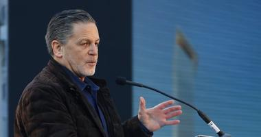 FILE - In this Dec. 14, 2017, file photo, Quicken Loans founder Dan Gilbert, addresses attendees at the former site of the J.L. Hudson Co. department store, in Detroit. Gilbert has reached an agreement to sell Greektown Casino-Hotel in downtown Detroit fo