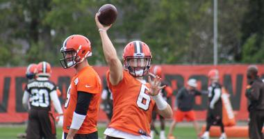Cleveland Browns Baker Mayfield September 24, 2018 practice