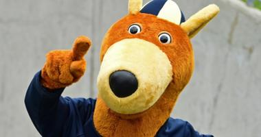 Akron Zips mascot Zippy performs in the third quarter in a game between the Akron Zips and Iowa State Cyclones