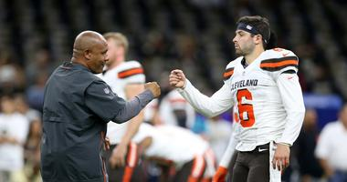 Baker Mayfield throws shade at Hue Jackson in FOX NFL pregame appearance