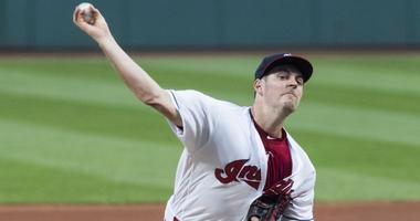 Sep 21, 2018; Cleveland, OH, USA; Cleveland Indians starting pitcher Trevor Bauer (47) throws a pitch during the first inning against the Boston Red Sox at Progressive Field. Mandatory Credit: Ken Blaze-USA TODAY Sports