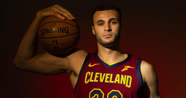 Sep 24, 2018; Cleveland, OH, USA; Cleveland Cavaliers forward Larry Nance Jr. (22) poses during Cavs Media Day at Cleveland Clinic Courts.