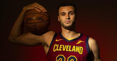 Sep 24, 2018; Cleveland, OH, USA; Cleveland Cavaliers forward Larry Nance Jr. (22) poses during Cavs Media Day at Cleveland Clinic Courts. Mandatory Credit: Scott R. Galvin-USA TODAY Sports