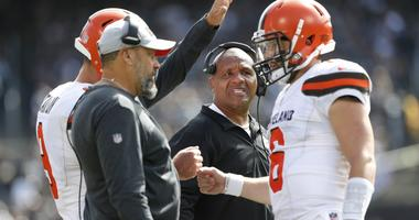 Hue Jackson, Todd Haley, Baker Mayfield Cleveland Browns