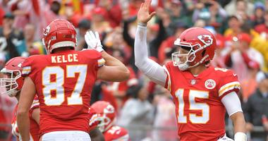 Pat Mahomes, Travis Kelce Kansas City Chiefs touchdown