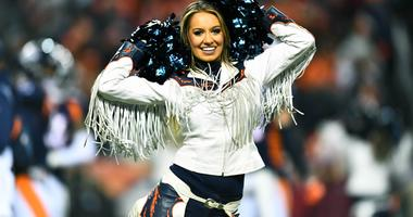 Dec 15, 2018; Denver, CO, USA; Denver Broncos cheerleader performs in the second half against the Cleveland Browns at Broncos Stadium at Mile High. Mandatory Credit: Ron Chenoy-USA TODAY Sports