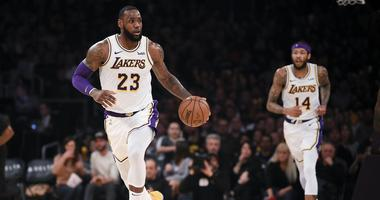 Dec 23, 2018; Los Angeles, CA, USA; Los Angeles Lakers forward LeBron James (23) moves the ball up the court during the third quarter against the Memphis Grizzlies at Staples Center. Mandatory Credit: Kelvin Kuo-USA TODAY Sports