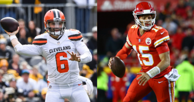 Rookie QB Baker Mayfield and Chiefs QB Patrick Mahomes meet for the first time in the NFL after battling at Oklahoma and Texas Tech in the Big 12 in college