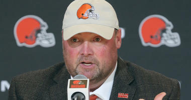 New Cleveland Browns head coach is introduced at a press conference on Monday, Jan. 14, 2019 at FirstEnergy Stadium in Cleveland, Ohio. (Photo by Phil Masturzo/Akron Beacon Journal/TNS/Sipa USA)
