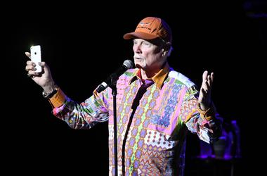 Mike Love of The Beach Boys performs