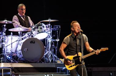 Max Weinberg and Bruce Springsteen