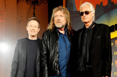 John Paul Jones, Robert Plant and Jimmy Page of Led Zeppelin,