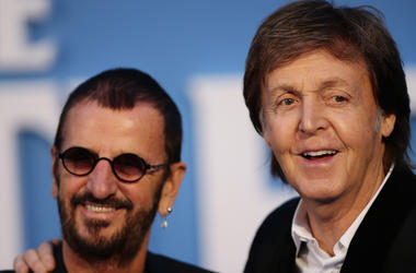 Sir Paul McCartney  and Ringo Starr.