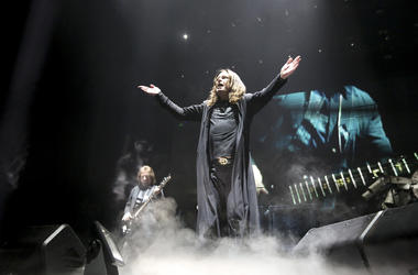 Ozzy Osbourne of Black Sabbath performs at the United Center
