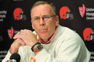 Cleveland Browns general manager John Dorsey speaks during a press conference following the firing of head coach Hue Jackson and offensive coordinator Todd Haley
